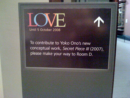 Yoko Ono: Secret Piece III (2008)