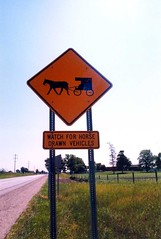Amish Buggy Crossing Sign, Middlebury, IN