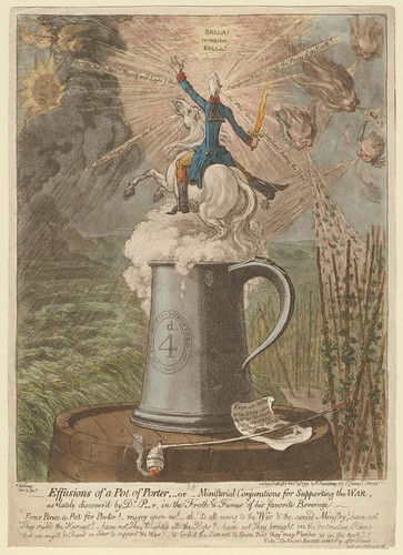 Effusions of a Pot of Porter (James Gillray, 1799)