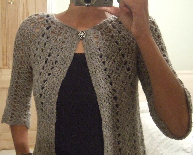 Chevron Lace Cardigan