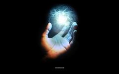 Handmade (digitaljail) Tags: light abstract black experiments energy hand sphere electron esperimenti