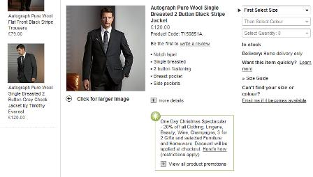 M&S product page