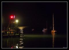 Night Pier (Yurr B) Tags: sea black reflection water night canon landscape boat yacht ukraine calm crime g1 lantern crimea blacksea  krym  moorage    ordzhonikidze   i
