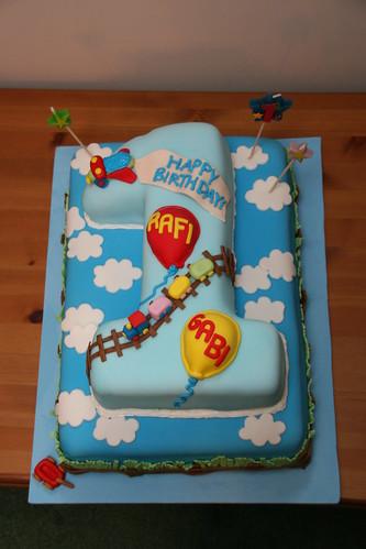 Rafi & Gabi 1st Birthday Cake