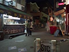 Iseya いせや前 (F_blue) Tags: tokyo 645 yakitori kichijoji iseya fujicolor 吉祥寺 etrs やきとり いせや zenzabronica pro160nc zenzanonpe5028 fblue2008 skewersofbarbecuedchicken