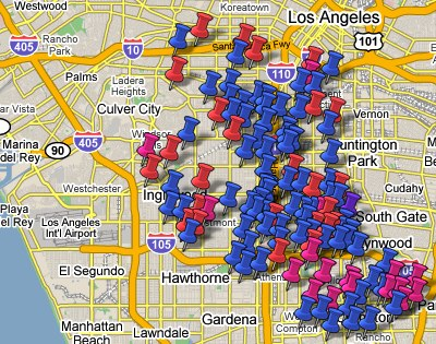 Gangs of LA on Google Maps | Blogging.la on google maps north platte, google maps dubai, google maps pensacola, google maps los santos, google maps northeast usa, google maps catskills, google maps philly, google maps racine, google maps uk, google maps brownsville, google maps china, google maps eureka, google maps california, google maps pearland, google maps mira loma, google maps paris, google maps logo, google maps savannah, google maps mombasa, google maps car,
