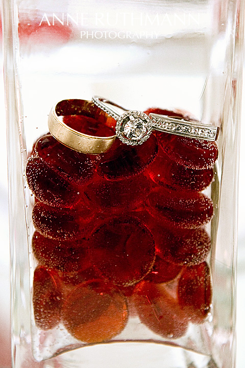 Water On The Rocks Wedding Rings