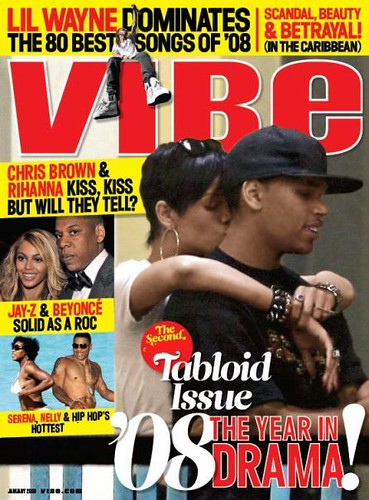 vibe magazine tabloid issue RIHANNA & CHRIS BROWN COVER