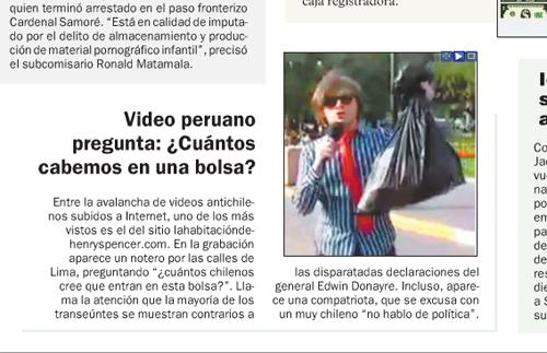 Las Ultimas Noticias Cuantos Chilenos Entran Caben Bolsa Plastica
