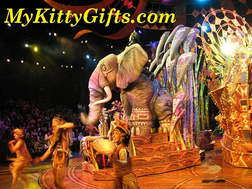 Hello Kitty's View of Elephant in Festival of Lion King Show at Adventureland, Hong Kong Disneyland