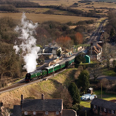 Swanage Railway 12 - 34070 Manston, Corfe Castle (David Crosbie) Tags: dorset swanage corfecastle swanagerailway uksteam heritagerailways