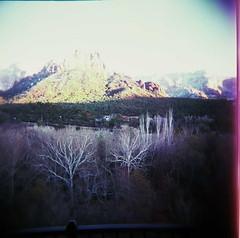 cathedral rock (express train) Tags: travel arizona color holga xpro williams crossprocess sedona