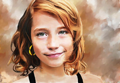 Retrato (zubillaga61) Tags: portrait girl photoshop chica retrato retouch corelpainter retoque