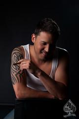 leo (juju~in~austin) Tags: tattoo leo cigar latin tanktop johnnydepp wifebeater malemodel strobes maleportrait profoto artgirlnyc jujufotofactory