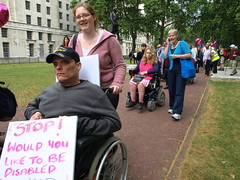 P5114661 (pete riches) Tags: london balloons march hiv pcs protest nat demonstration solidarity posters depression vic banners dwp disabilityrights slogans mentalhealth ica parkinsons placards happi mnd atos unison rethink epilepsy mencap rnib dla guidedogs cerebalpalsy ucu rtwc carers janeasher dpac mnda stopthecuts nocuts terrencehigginstrust righttowork motorneuronedisease andrewlansley nsun disabilitybenefits invisibleillness leonardcheshire 11052011 05112011 demo2011 thehardesthit hardesthit hardesthitmarch mobilityallowance harrowmencap lewishammencap greenwichlearningdisability peoplesparliament lordlowofdalston nationalinvolvementpartnership federationofdisabledpeople benefitsbill winvisible kentdisabledanglers visuallyimpairedincamden