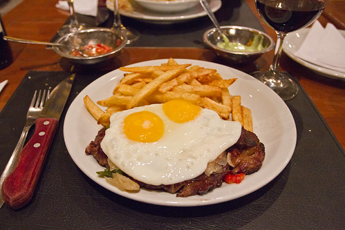 Rib Eye steak with eggs