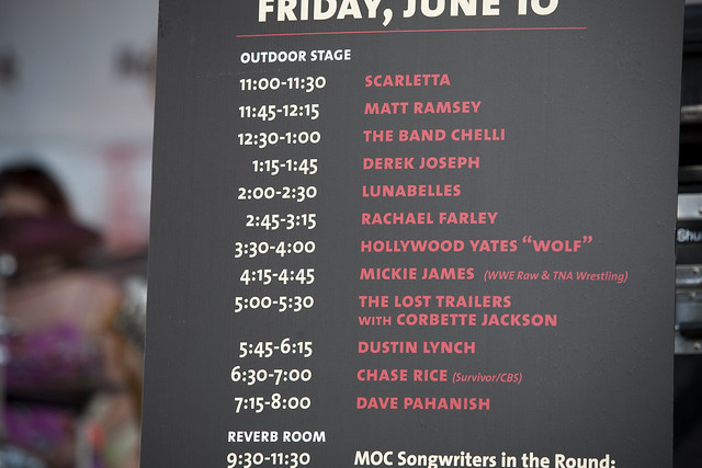 2011 06-10 The Lunabelles at CMA Fest