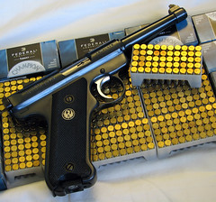Ruger MkII (itwuzcryptic) Tags: auto shells 22 gun shoot shell semi guns shooting bullet bullets ammo ammunition caliber semiauto ruger semiautomatic 22lr ammuntion rugermarkii
