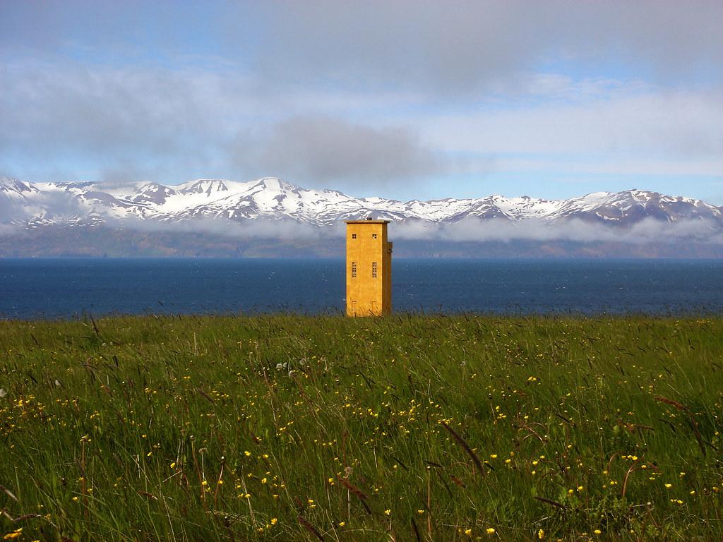 Watch tower near Húsavík