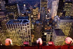 City Below (Thomas Hawk) Tags: nyc newyorkcity usa newyork streets buildings lights cityscape unitedstates fav50 10 manhattan unitedstatesofamerica fav20 fav30 topoftherock fav10 fav25 30rockefellerplaza fav40 superfave