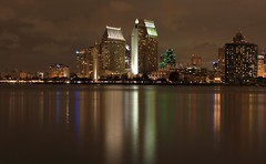 San Diego Waterfront (A Sutanto) Tags: california ca city urban usa reflection skyline night america lights bay downtown waterfront sandiego sd bayfront diamondclassphotographer