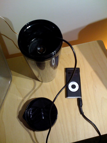 Speaker in a thermos by Because We Can and co(act)lab