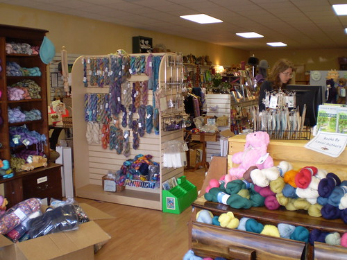 The yarn part of the shop