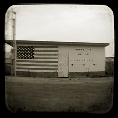 Proud to be an American (baronCORONADO) Tags: usa art digital america square concrete photography us washington unitedstates contemporary unitedstatesofamerica fineart blackburn photograph northamerica concept conceptual artcenter concepts artistry ttv artstyles