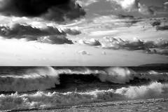Sea vs clouds (enrix64) Tags: sea blackandwhite bw clouds mare waves calabria biancoenero onde diamante roughseas mareggiata abigfave aplusphoto goldstaraward enrix enrix64