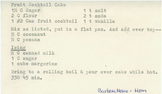 fruit cocktail cake recipe