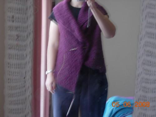 asymmetric wrap vest