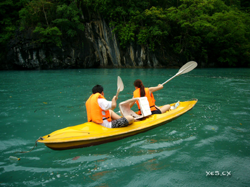 wern and nicole kayaking