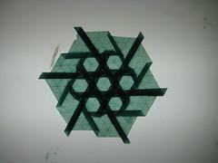 Hexagon Weave (Oruhito) Tags: origami joel cooper hexagon weave tessellation glassine