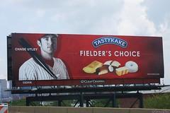 Chase Utley Billboard (Harpo42) Tags: west philadelphia highway billboard phillies philly 2008 advertise tastykake i76 promote june15 route76 chaseutley endorse fielderschoice
