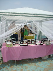 My booth, complete with Mosquito net, Renegade Craft Fair, Brooklyn
