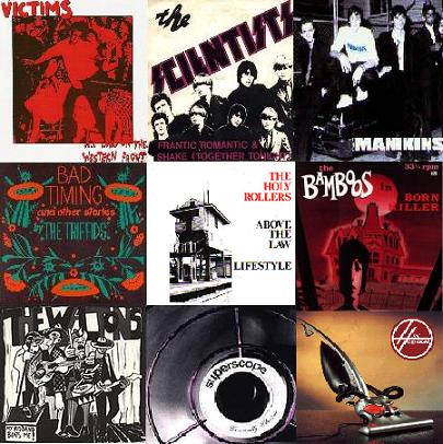 covers of some vinyl singles from Perth bands