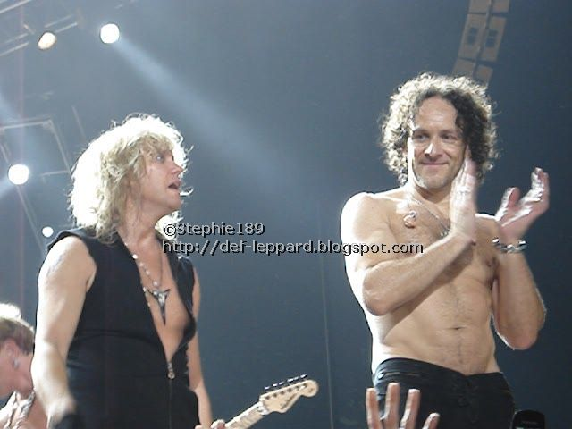 Vivian Campbell and Rick Savage