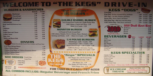 The Kegs Menu - Grand Forks