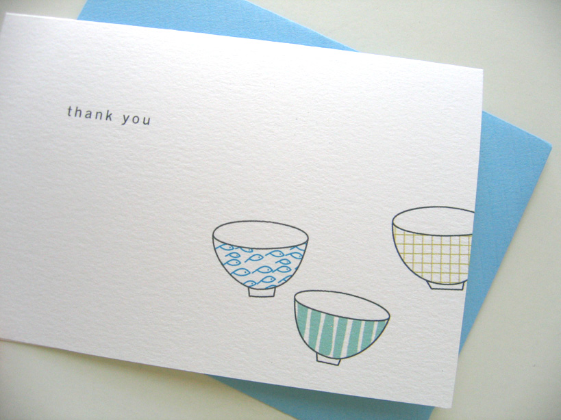 bowls thank you cards