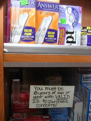 """VALID ID to purchace condoms!"""