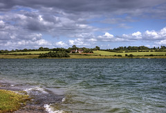 England: Bedfordshire - Lakeshore House (Tim Blessed) Tags: uk sky lake nature water clouds landscape countryside wind reservoir singlerawtonemapped