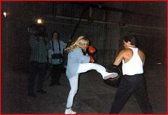 "Pamela Anderson, set of ""Barb Wire"""