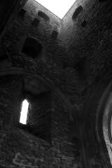 St. Michael's Tower, Glastonbury Tor (Simon J. Newbury) Tags: tower church monochrome glastonbury somerset medieval christian tor stmichaels levels avalon mediaeval isleofavalon