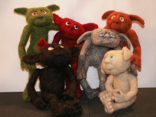 Group Shot - Needle Felted Droits