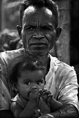 Old man and baby
