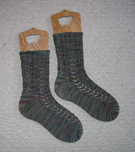 Fern Leaf Lace Socks