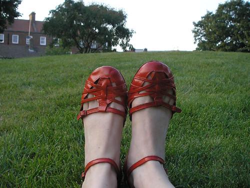 Sapato vermelho pronto!