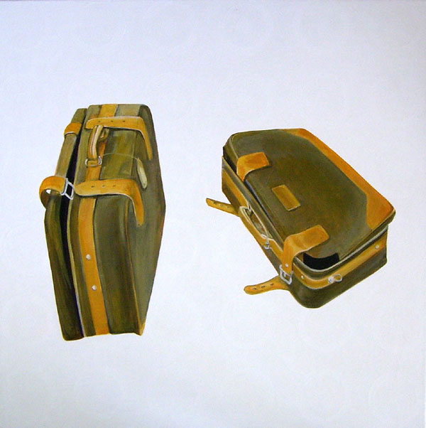 On the Case, Acrylic on Canvas, 61cm x 61cm by Robin Clare