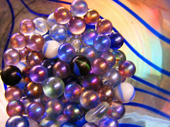 pick out the blue ones (rt44man) Tags: pink blue light white black glass lines yellow shiny pretty purple olivia circles balls clear vase swirls marbles marble stipes