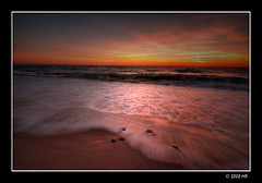 the evening swoosh of surf (Mariusz Petelicki) Tags: sunset poland polska balticsea hdr zachód canonefs1022mm 3xp morzebałtyckie pomorze rowy canon400d mariuszpetelicki